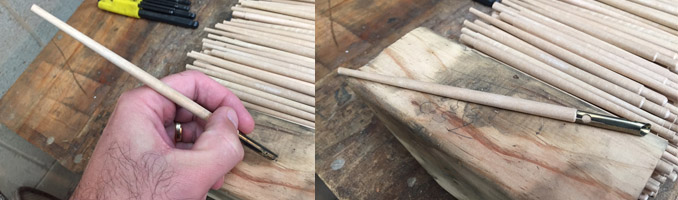 Wooden Calligraphy Pens Turned Timber Pens