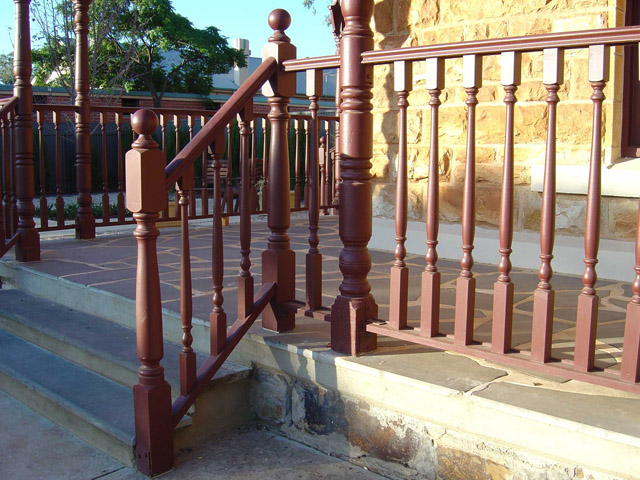 Exterior Newel Post Anchor. a newel post supports a stair banister ...