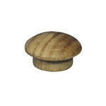 "12.7mm (1/2"") Timber Cover Buttons (Vic Ash)"