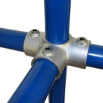 3-Ways Centre Cross for 48mm Galvanised Pipe