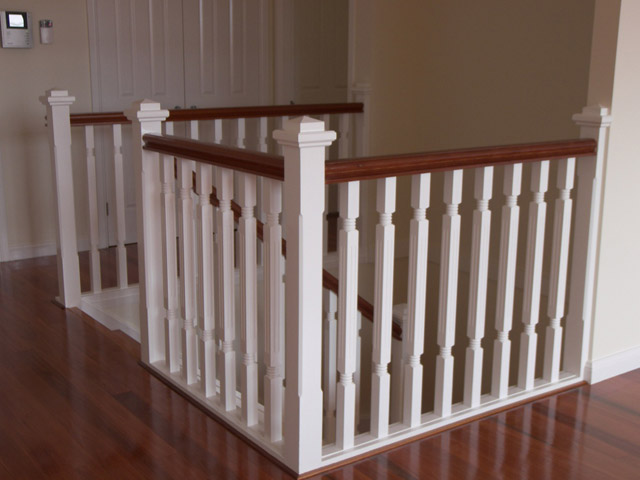 Turned Timber Balusters Wooden Pine Stair Balustrade