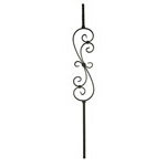 Wrought Iron Balusters | Round Steel Balustrade | JB407SB