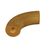 Designer Rail - 43mm diam - 90 deg Bend (Blackbutt)