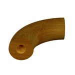 Designer Rail - 43mm diam - 90 deg Bend (Spotted Gum)
