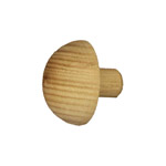Designer Rail - 43mm diam - Domed End Cap (American Oak)