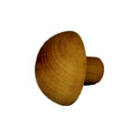 Designer Rail - 43mm diam - Domed End Cap (Spotted Gum)