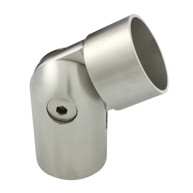 Timber handrail stainless steel fittings