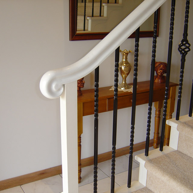 Heritage Stair Handrails - End Scroll (Pine)