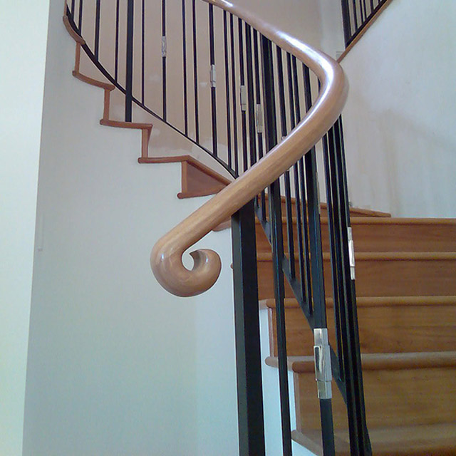 Mono Stair Handrails - End Scroll (Pine)