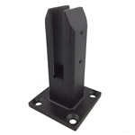 Square Matt Black Glass Spigot - Deck Mount