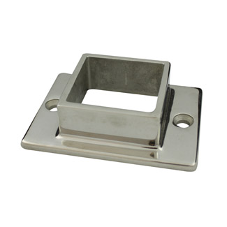 Base Plate with 2 Holes for 50 Square Mirror Tube