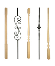 Balusters in Timber and Metal