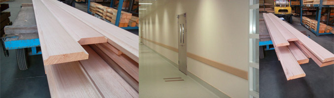 Timber Bump Rail For Hospitals