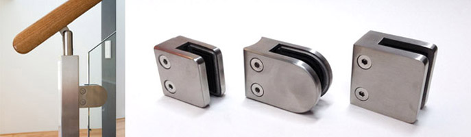 Stainless Glass Clamps Rated to 100kg