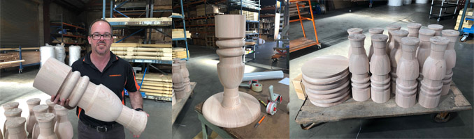 Custom Turned Table Columns