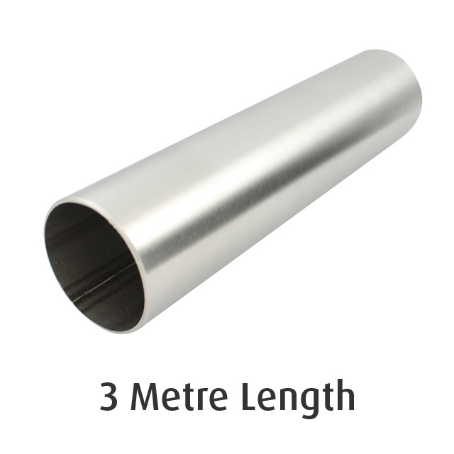 Round Tube 38.1 diameter (316 Satin) - 3 metre Length_1