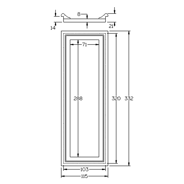 Medium Flat Drop-In Panel for 155sq Stair Post_3