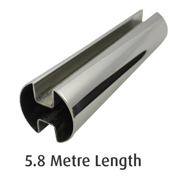 Double Slot Rnd Tube 50.8 diam (316 Mirror) - 5.8 metre Length_1
