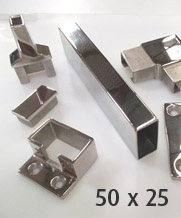 50 x 25mm Rectangle Stainless Steel Handrails