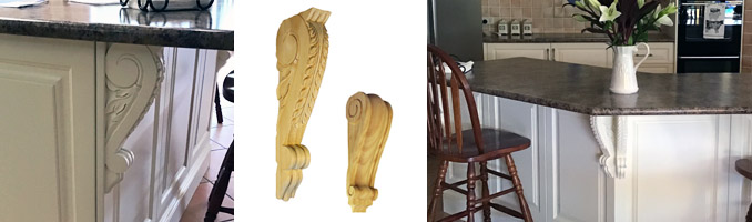 Kitchen Makeover Using Timber Corbels