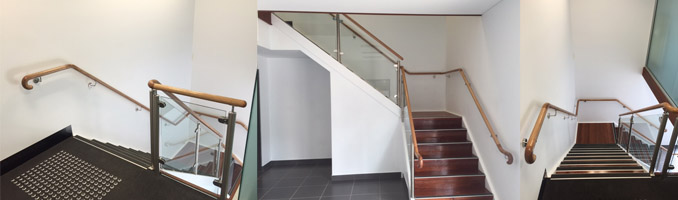 Stainless & Glass Balustrade With Timber Handrail