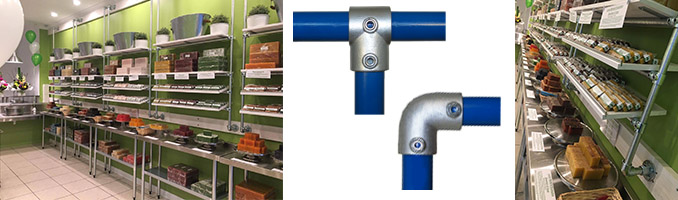 Galvanised Pipe Fittings for Shop Displays