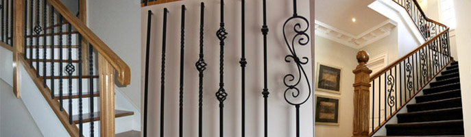Wrought Iron Balusters In 16mm Square and Round