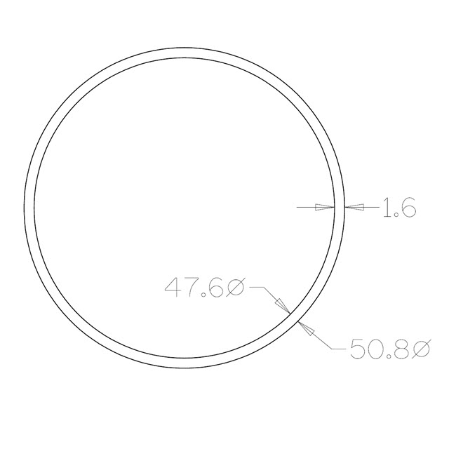 Round Tube 50.8 diameter (304 Satin) - 6 metre Length_2