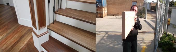 Timber Stair Treads and Risers