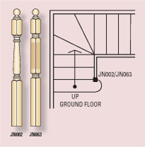 Fluted Std Stair Posts 1500x90sq (Vic Ash)_3