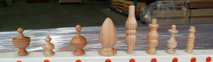 Turned Finials and Spindles for Furniture and Kitchens