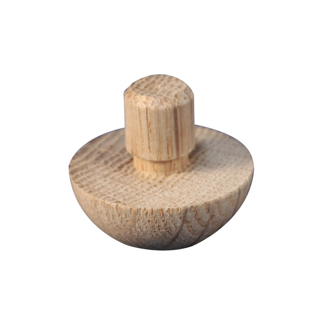 Designer Rail - 43mm diam - Domed End Cap (American Oak)_2
