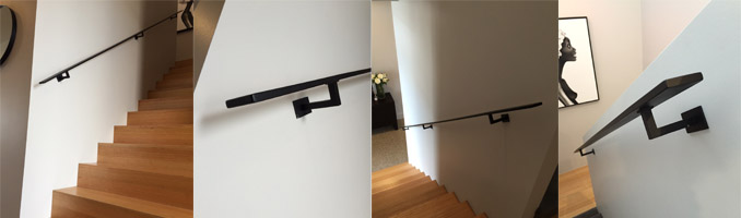 Stainless Steel Handrail Painted Black
