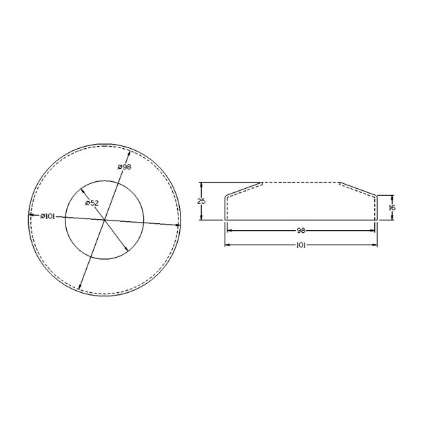Domed Cover for 50.8 Round Mirror Tube_2