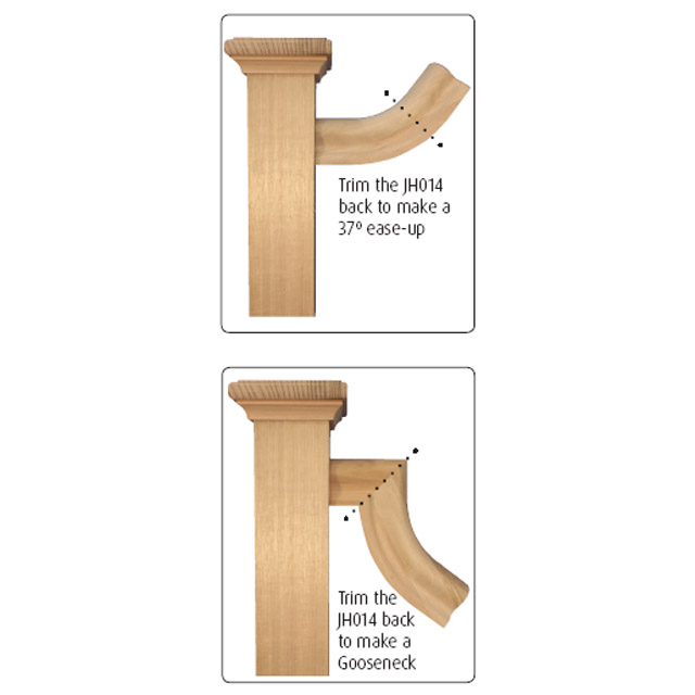 Heritage Handrail - 53 deg Ease Up (Pine)_2