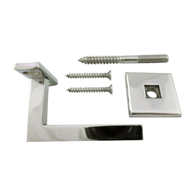 80mm Square Handrail Bracket - Curved Cradle (Mirror)_2