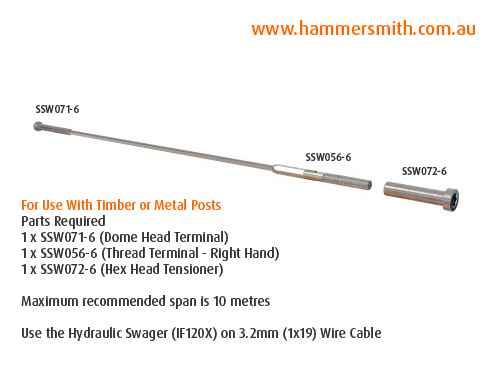 Dome Head Terminal - 3.2mm Wire (Hydraulic Swager)_2