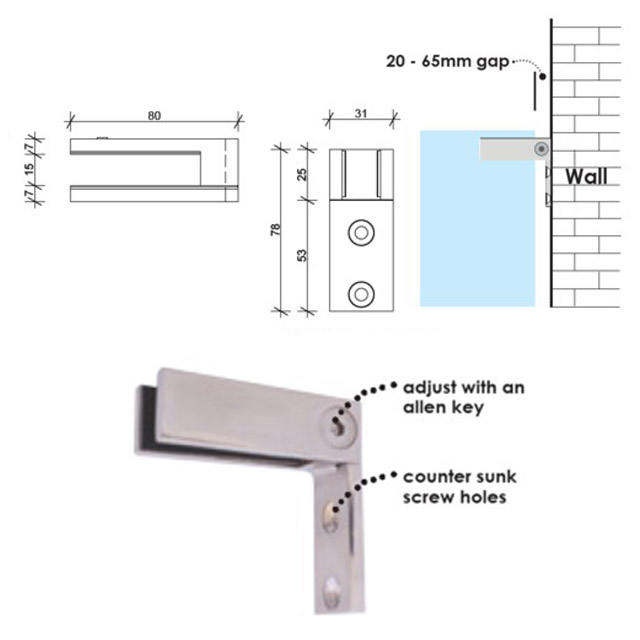 Glass to Wall Connector - Mirror_4