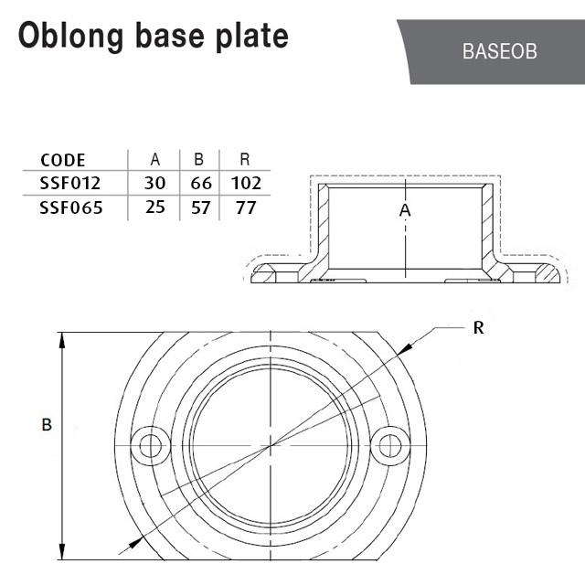Oblong Base Plate for 38.1 Round Mirror Tube_2