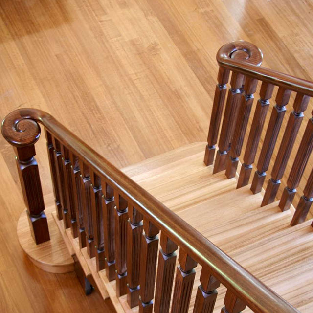 Victorian Handrail - Left Scroll (Pine)_3