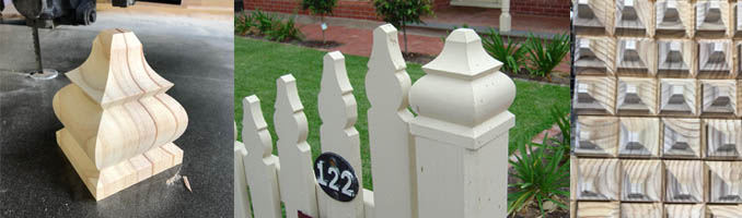 Square Windsor Fence Post Capitals