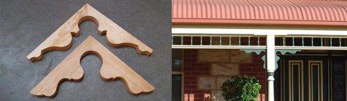 Treated Verandah Brackets - Adelaide Design