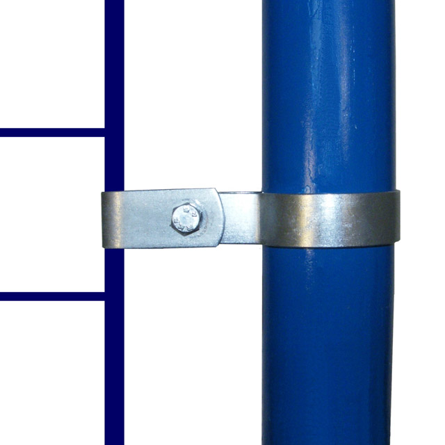 Single Mesh Panel Clip for 60mm Galvanised Pipe_1