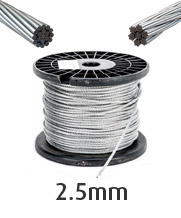 2.5mm Stainless Steel Wire Cable Rope