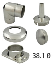 38.1mm Round Stainless Steel Tube Fittings