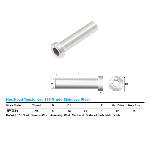 Hex Head Tensioner M6_4