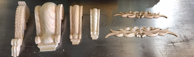 6 New Wooden Corbels and Carvings Added