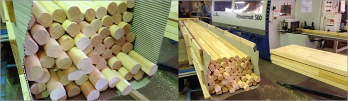 Another Batch of Pine Dowel Handrail