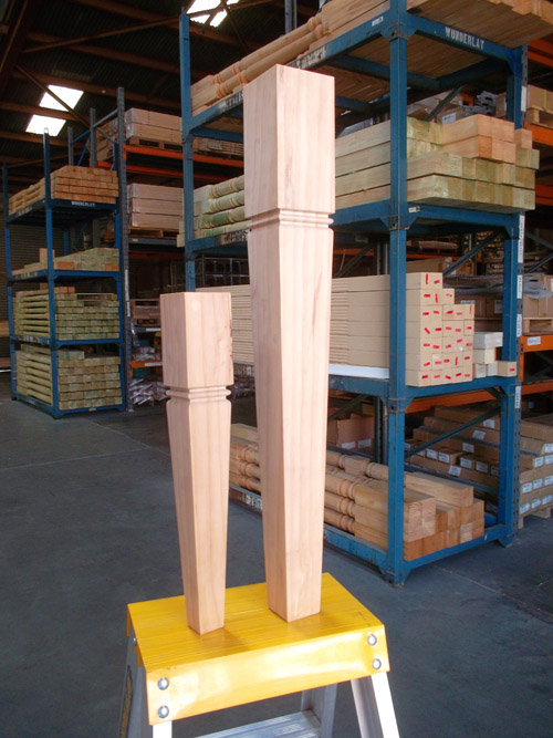 Square Tapered Wooden Table Legs