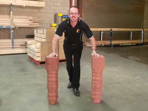 Turned Timber Table Legs